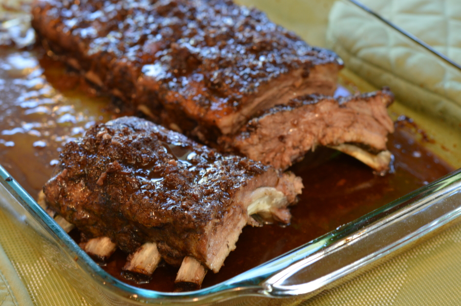 Signature slow roasted pork ribs
