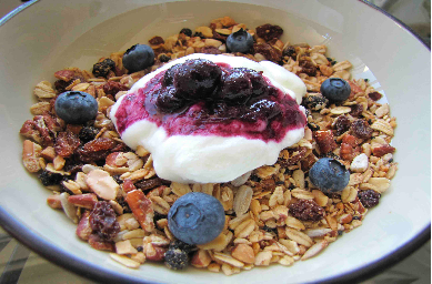 Gourmet home-made granola