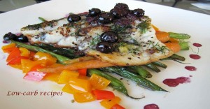halibut blueberry sauce