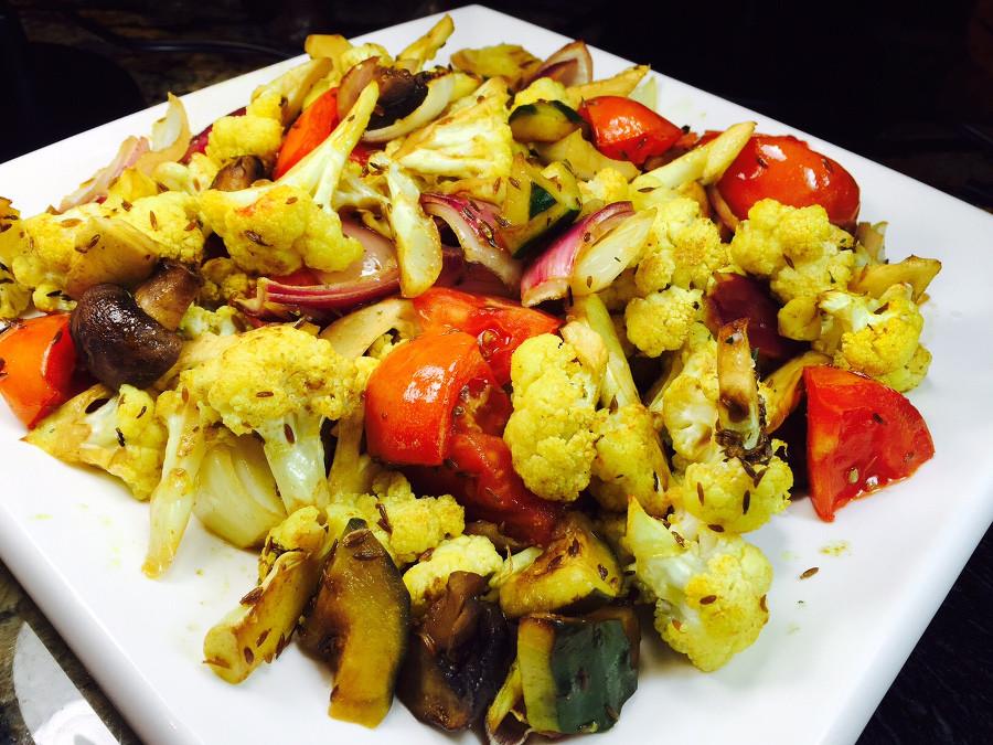 Roasted mix vegetable