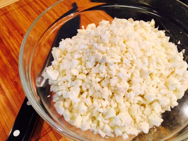 Cauli rice chopped