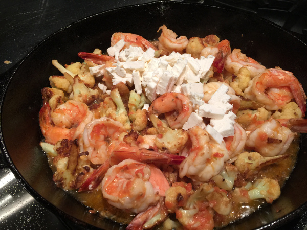 Prawn cauli tomato feta-all in pan600x450