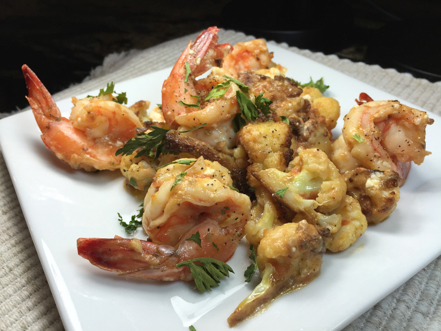 Feta Prawn and Cauliflower